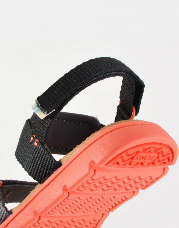 TOMS Solid Webbing Sandal Black - 10013354 - 5