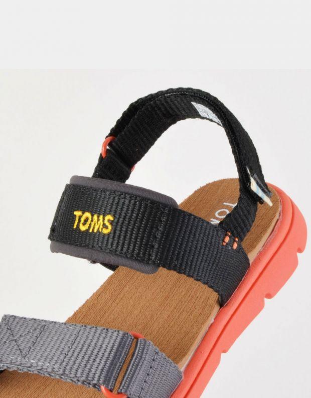 TOMS Solid Webbing Sandal Black - 10013354 - 6