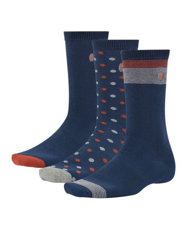 TIMBERLAND 3-Pair Dotted Crew Socks - A1G5X-288 - 1