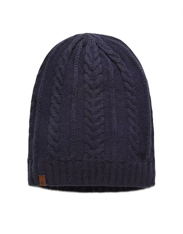 TIMBERLAND Cable Sloughty Beanie Hat Navy - A1EGJ-TB9 - 1