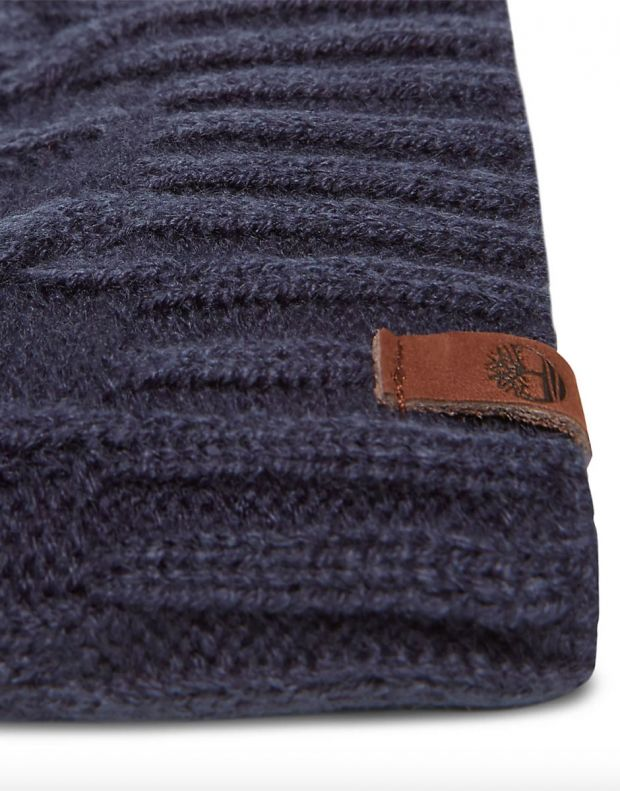 TIMBERLAND Cable Sloughty Beanie Hat Navy - A1EGJ-TB9 - 2