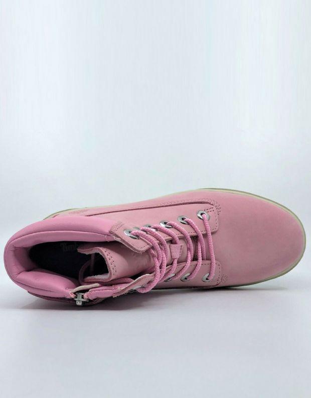 TIMBERLAND Groveton 6-Inch Lace Zip Nubuck Pink - A1P6D - 3