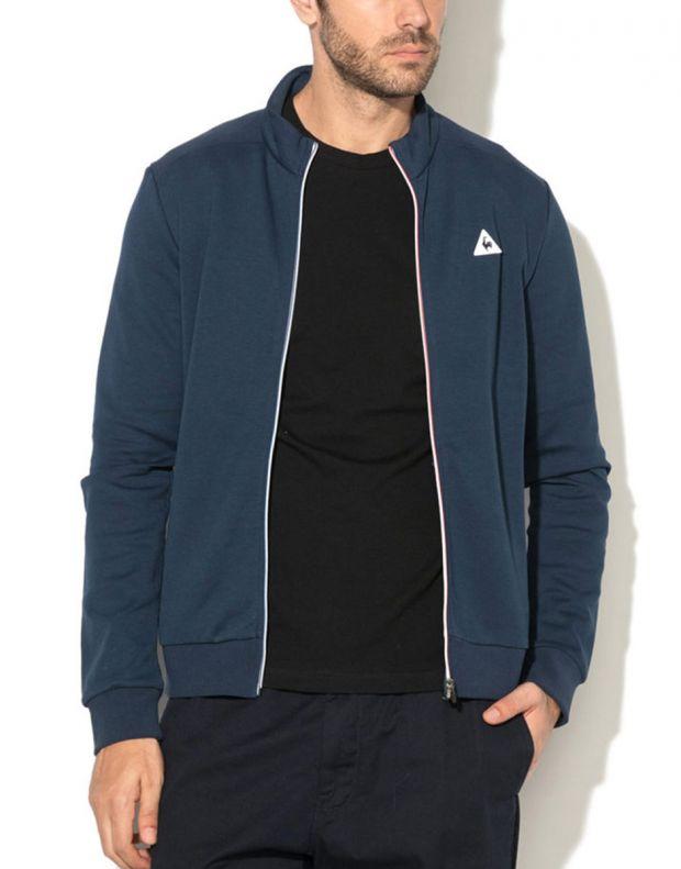 LE COQ SPORTIF Essentiels Full Zip Sweatsthirt Blue - 1