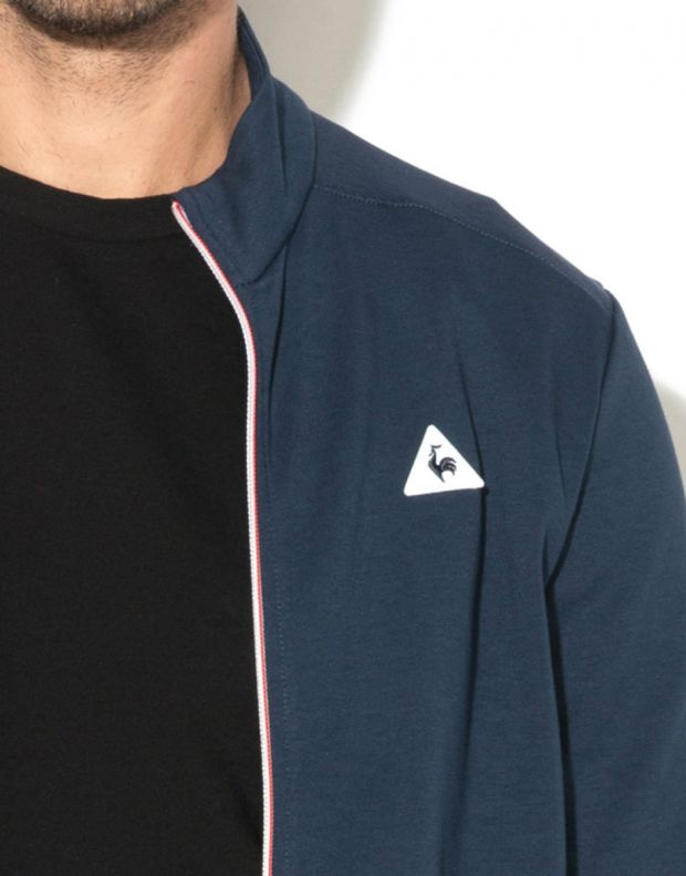 LE COQ SPORTIF Essentiels Full Zip Sweatsthirt Blue - 3