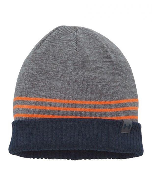 UNDER ARMOUR 4-in-1 Beanie Hat Grey - 1300077-040 - 1