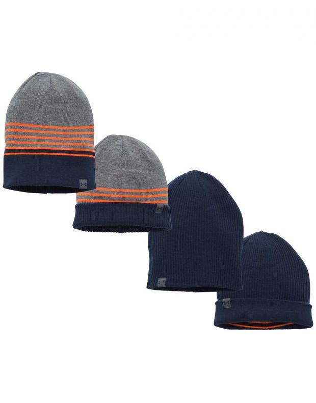UNDER ARMOUR 4-in-1 Beanie Hat Grey - 1300077-040 - 3