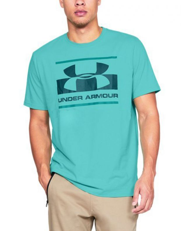 UNDER ARMOUR Blocked Sportstyle Logo Tee Blue - 1