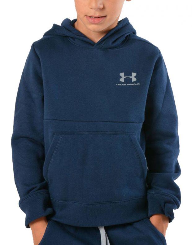 UNDER ARMOUR Eu Cotton Fleece Hoody Navy - 1320134-408 - 1