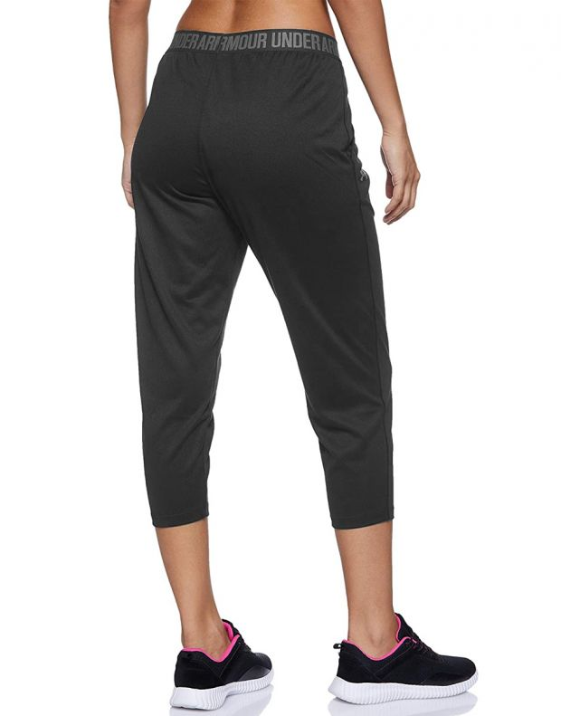UNDER ARMOUR Featherweight Cropped Fleece Joggers Black  - 1298445-001 - 2