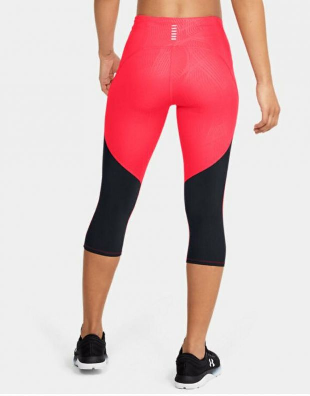 UNDER ARMOUR Fly Fast Printed Capri Leggings Red - 1350983-628 - 2