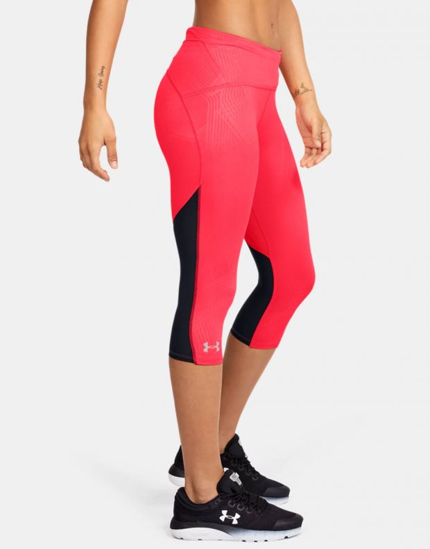 UNDER ARMOUR Fly Fast Printed Capri Leggings Red - 1350983-628 - 3