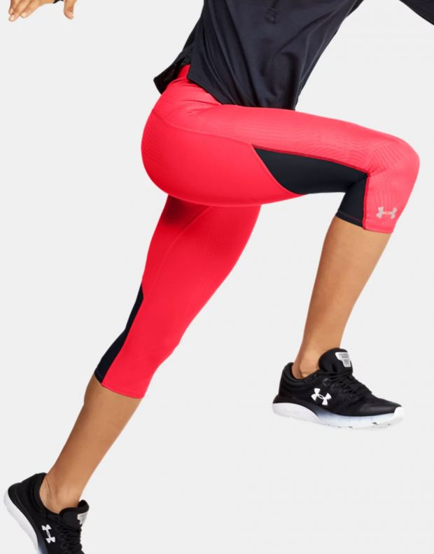 UNDER ARMOUR Fly Fast Printed Capri Leggings Red - 1350983-628 - 4