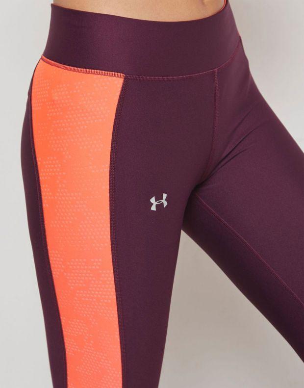 UNDER ARMOUR HeatGear Ankle Crop Leggings Maroon - 1305431-564 - 4