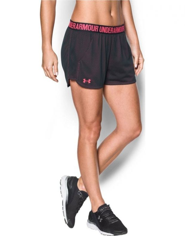 UNDER ARMOUR Mesh Play Up Short Black Pink - 1