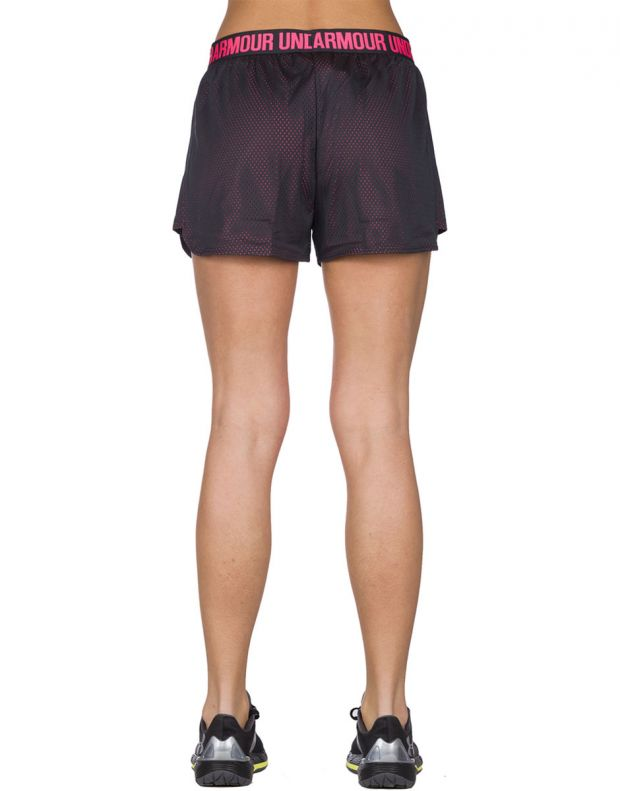 UNDER ARMOUR Mesh Play Up Short Black Pink - 2