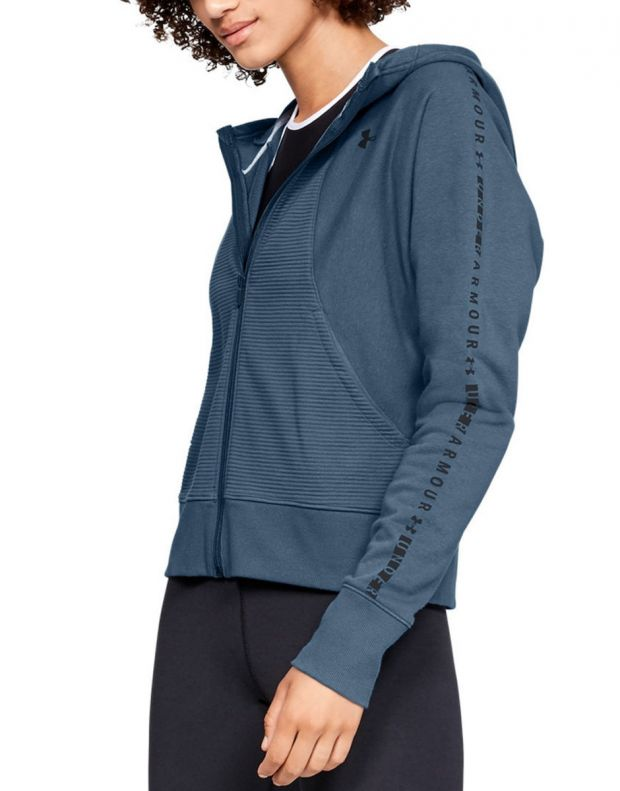 UNDER ARMOUR Microthread Fleece Graphic Full Zip Blue - 1321182-414 - 1