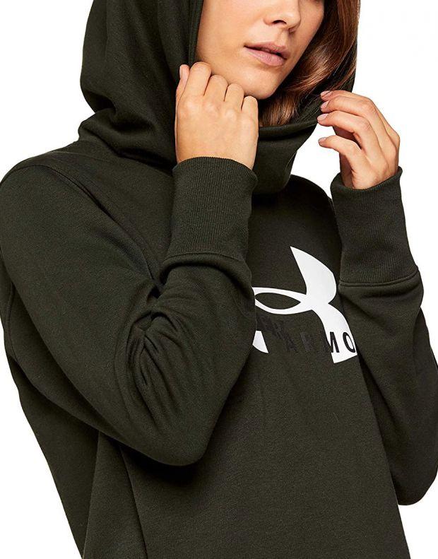 UNDER ARMOUR Rival Fleece Logo Hoodie Green - 1321185-357 - 3