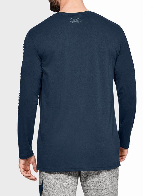 UNDER ARMOUR Rock Hardest Worker Long Sleeve Shirt Blue - 1345814-408 - 2