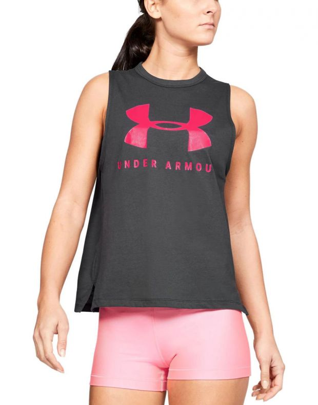 UNDER ARMOUR Sportstyle Graphic Muscle Grey - 1344150-010 - 1