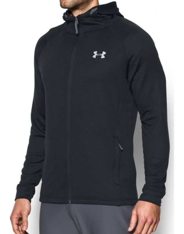 UNDER ARMOUR Tech Terry Fitted Hoodie Black - 2