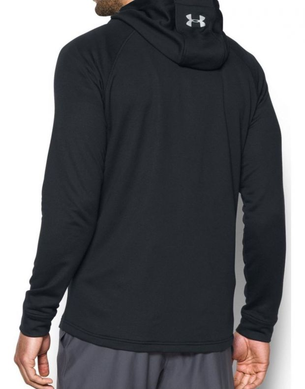 UNDER ARMOUR Tech Terry Fitted Hoodie Black - 3