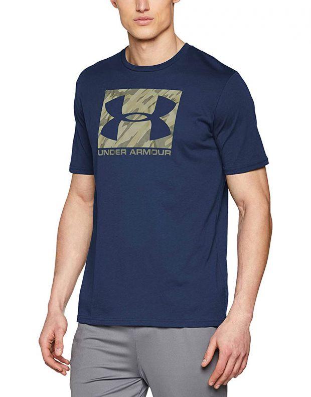 UNDER ARMOUR Boxed Sportstyle Tee Navy  - 1