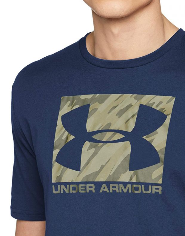 UNDER ARMOUR Boxed Sportstyle Tee Navy  - 3