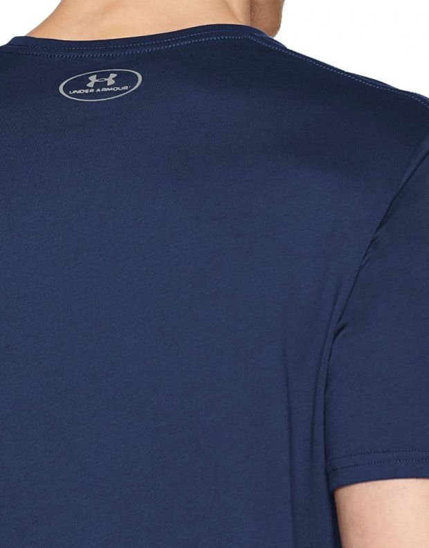 UNDER ARMOUR Boxed Sportstyle Tee Navy  - 4