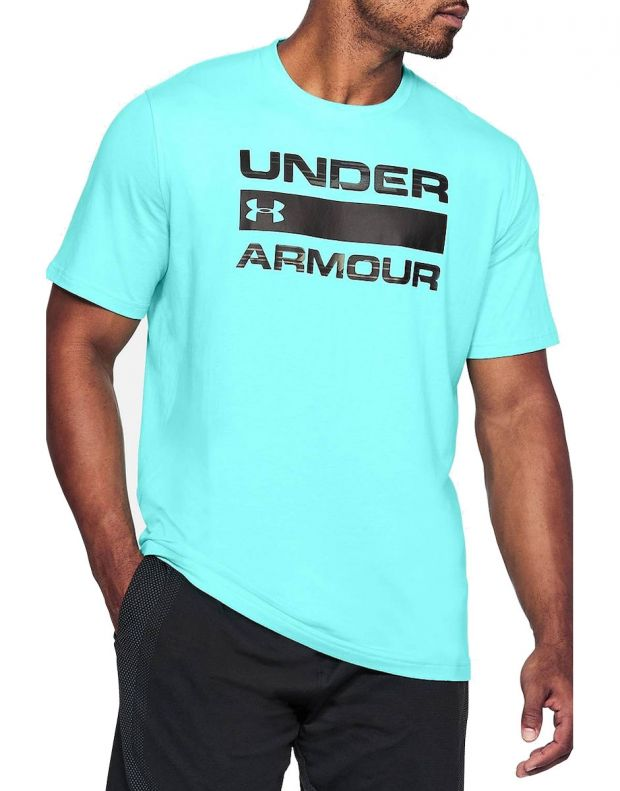 UNDER ARMOUR Team Issue Wordmark Tee Turq - 1