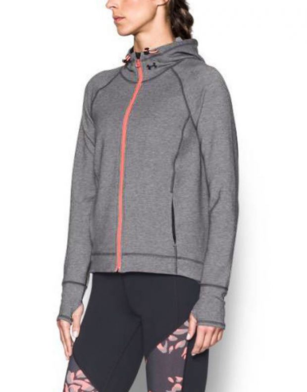 UNDER ARMOUR Luster Hoddie Jacket Grey - 1289343-090 - 2