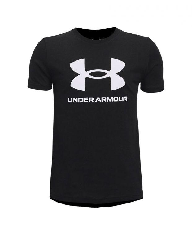 UNDER ARMOUR Sportstyle Logo Kids Tee Black - 1363282-001 - 1
