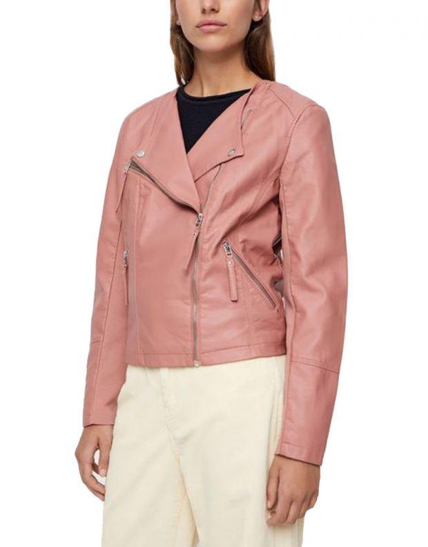 VERO MODA Faux Leather Moto Jacket Rose - 10206603/rose - 1