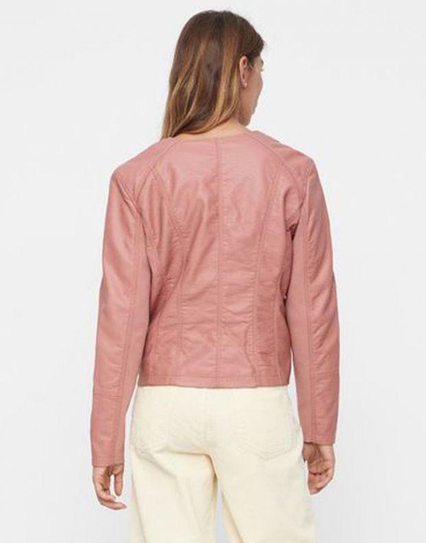 VERO MODA Faux Leather Moto Jacket Rose - 10206603/rose - 2