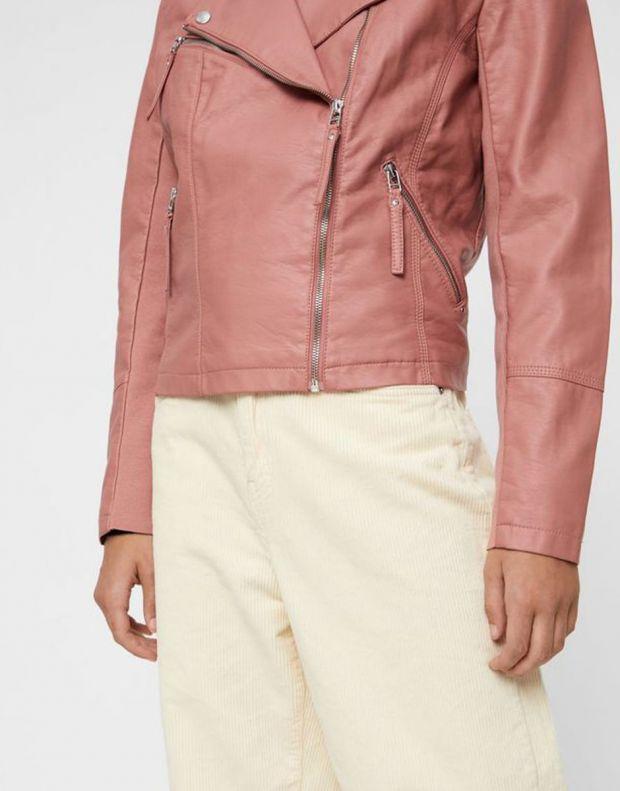 VERO MODA Faux Leather Moto Jacket Rose - 10206603/rose - 3