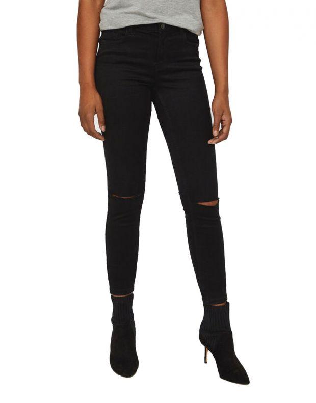 VERO MODA Ripped Skinny Jeans Black - 1