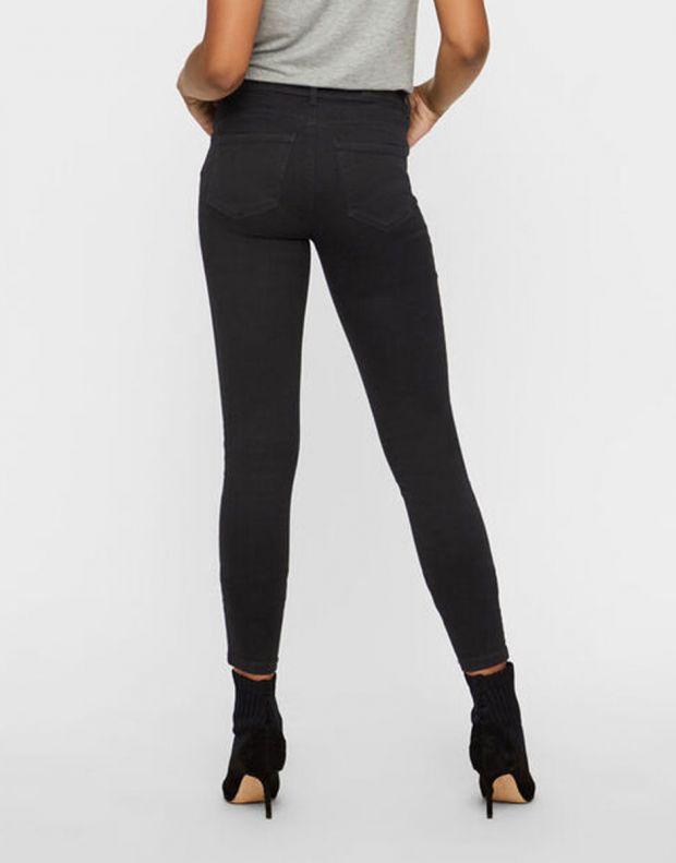 VERO MODA Ripped Skinny Jeans Black - 2