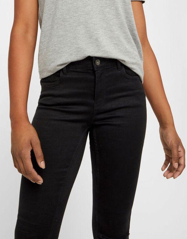 VERO MODA Ripped Skinny Jeans Black - 3