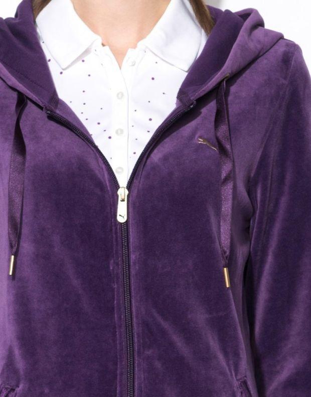 PUMA Velour Tracksuit Purple - 5