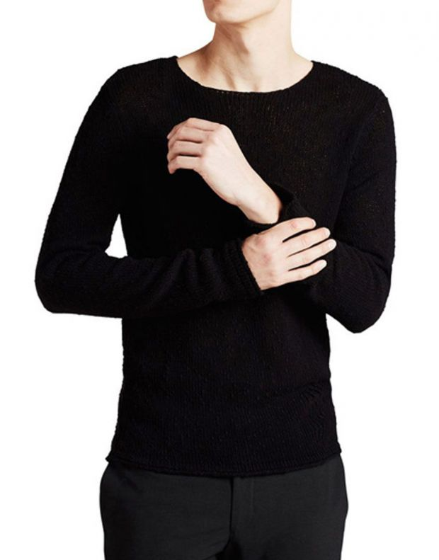 JACK&JONES Classic Knitted Pullover Black - 1