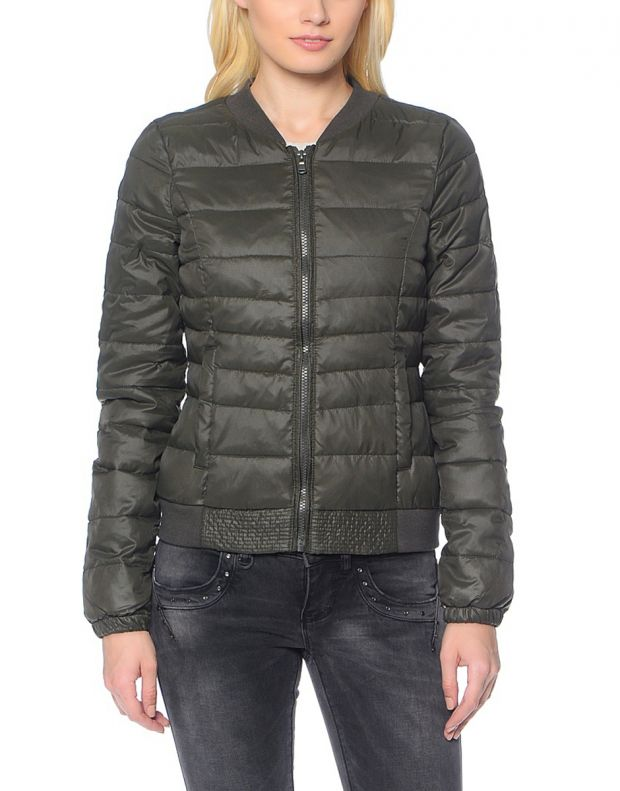 ONLY Short Quilted Jacket Olive - 3