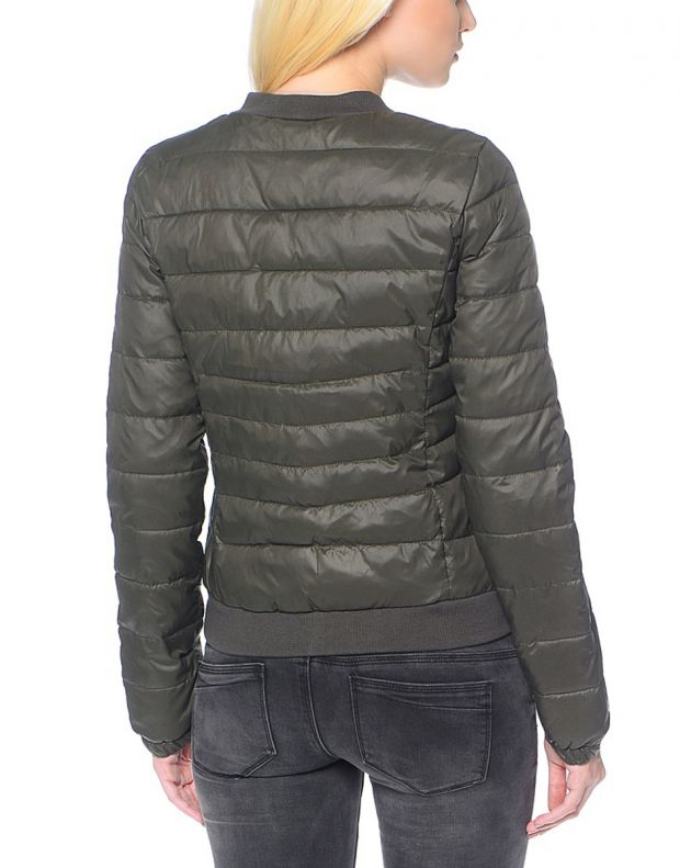 ONLY Short Quilted Jacket Olive - 2