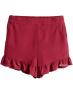 H&M Frill-Trimmed Shorts - 2493/red - 3t